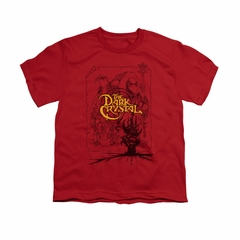 The Dark Crystal Shirt Poster Lines Kids Red Youth Tee T-Shirt