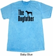 The Dog Father Black Print Mineral Tie Dye Shirt