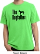 The Dog Father Black Print Pigment Dyed Shirt