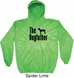 The Dog Father Black Print Tie Dye Hoodie