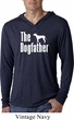 The Dog Father White Print Lightweight Hoodie Shirt