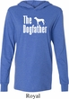 The Dog Father White Print Lightweight Hoodie Tee