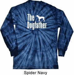 The Dog Father White Print Long Sleeve Tie Dye Shirt