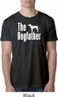 The Dog Father White Print Mens Burnout Shirt