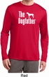 The Dog Father White Print Mens Moisture Wicking Long Sleeve Shirt