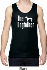 The Dog Father White Print Mens Moisture Wicking Tanktop