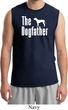 The Dog Father White Print Mens Muscle Shirt