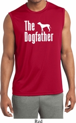 The Dog Father White Print Mens Sleeveless Moisture Wicking Shirt