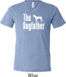 The Dog Father White Print Mens Tri Blend V-neck Shirt