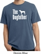 The Dog Father White Print Pigment Dyed Shirt