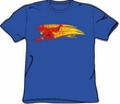 The Flash T-shirt - Fastest Man Alive DC Comics Adult Royal Blue Tee