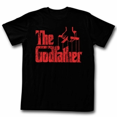 The God Father Shirt Red Logo Black T-Shirt