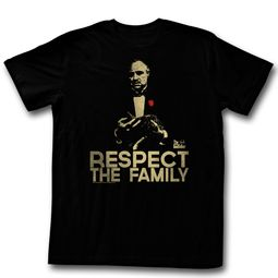 The God Father Shirt Respect The Family Black T-Shirt