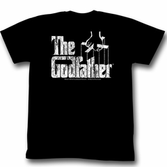 The Godfather Shirt Distressed Adult Black Tee T-Shirt