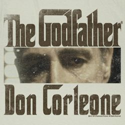 The Godfather Shirt Don Corleone Adult Dirty White Tee T-Shirt