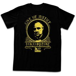 The GodFather Shirt Give Me Justice Black T-Shirt