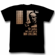 The Godfather Shirt Justice Adult Black Tee T-Shirt