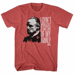 The Godfather Shirt No Apologies Red Heather T-Shirt