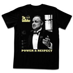 The GodFather Shirt Power And Respect Black T-Shirt