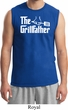 The Grillfather White Print Mens Muscle Shirt