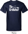 The Grillfather White Print Mens Tall Shirt