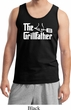 The Grillfather White Print Mens Tank Top