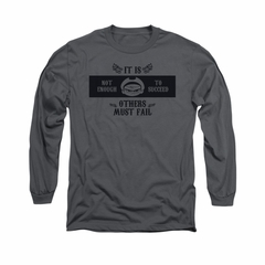 The Grim Adventures Of Billy & Mandy Shirt Long Sleeve Others Must Fail Charcoal Tee T-Shirt