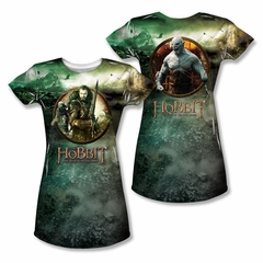 The Hobbit Battle Of The Five Armies Dwarves Vs Azog Sublimation Juniors Shirt Front/Back Print