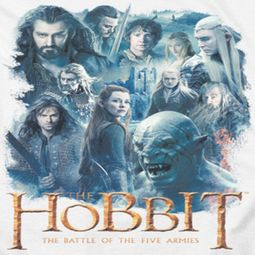The Hobbit Battle Of The Five Armies Main Characters Shirts