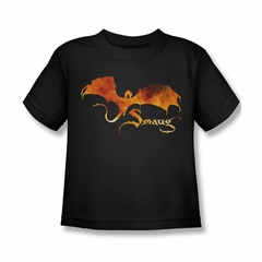 The Hobbit Battle Of The Five Armies Shirt Kids Smaug On Fire Black Youth Tee T-Shirt
