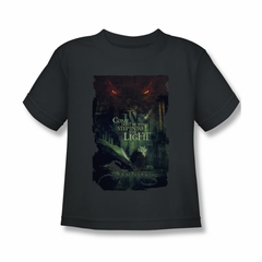 The Hobbit Battle Of The Five Armies Shirt Kids Taunt Charcoal Youth Tee T-Shirt
