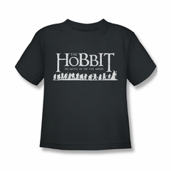 The Hobbit Battle Of The Five Armies Shirt Kids Walking Logo Charcoal Youth Tee T-Shirt