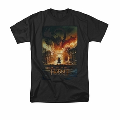 The Hobbit Battle Of The Five Armies Shirt Smaug Poster Adult Black Tee T-Shirt