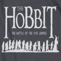 The Hobbit Battle Of The Five Armies Walking Logo Shirts