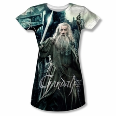 The Hobbit Battle Of The Five Armies Wizard Sublimation Juniors Shirt