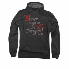 The Hobbit Desolation Of Smaug Hoodie Sweatshirt Never Laugh Charcoal Adult Hoody Sweat Shirt