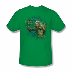 The Hobbit Desolation Of Smaug Shirt Greenleaf Adult Kelly Green Tee T-Shirt