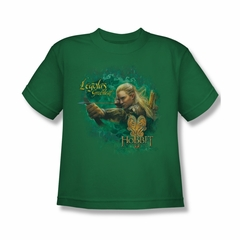 The Hobbit Desolation Of Smaug Shirt Kids Greenleaf Kelly Green Youth Tee T-Shirt