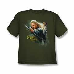 The Hobbit Desolation Of Smaug Shirt Kids Legolas Greenleaf Military Green Youth Tee T-Shirt