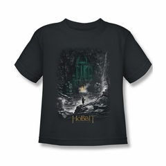 The Hobbit Desolation Of Smaug Shirt Kids Second Thoughts Charcoal Youth Tee T-Shirt