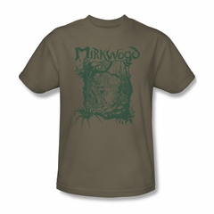The Hobbit Desolation Of Smaug Shirt Mirkwood Line Adult Safari Green Tee T-Shirt