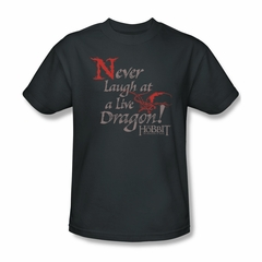 The Hobbit Desolation Of Smaug Shirt Never Laugh Adult Charcoal Tee T-Shirt