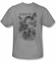 The Hobbit Kids Shirt Movie Unexpected Journey Sketches Silver Tee