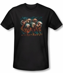 The Hobbit Shirt Movie Unexpected Journey Misty Goblin Black Slim Fit