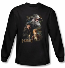 The Hobbit Shirt Movie Unexpected Journey Painting Black Long Sleeve