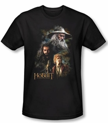The Hobbit Shirt Movie Unexpected Journey Painting Black Slim Fit Tee