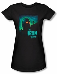 The Iron Giant Juniors T-Shirt Movie Look To The Stars Black Tee Shirt