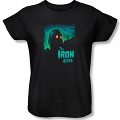 The Iron Giant Ladies T-Shirt Movie Look To The Stars Black Tee Shirt