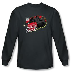 The Iron Giant Long Sleeve T-Shirt Movie Outer Space Charcoal Shirt