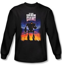 The Iron Giant Long Sleeve T-Shirt Movie Robot Poster Black Shirt